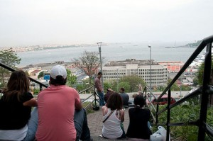 The Cihangir Steps' Open-Air View