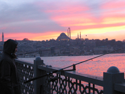 The view from Galata Bridge -- photo by Yigal Schleifer