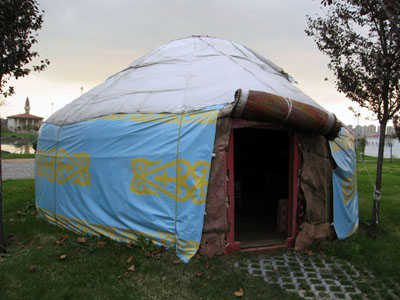 Yurts so good -- photo by Yigal Schleifer