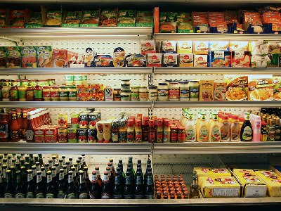 Deli display at Benito's Delicatessen in Athens, photo by Manteau Stam