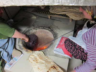 Making lavash in the tandir oven at Erzincan Tandır Ekmeği, photo by Ansel Mullins
