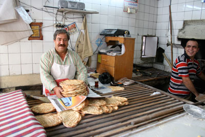 Bread in Gaziantep, photo by Yigal Schleifer
