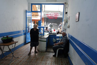 Pando and his wife, Yuanna, in his now-shuttered kaymak shop, photo by Ansel Mullins