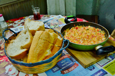 Ismail amca's menemen, photo by İpek Derin Baltutan