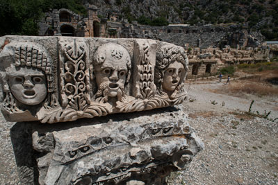 Ruins in Demre, photo by Theodore Charles