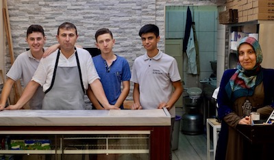 Hacı Ahmet Beşparmark and his staff at Öz Develi, photo by Paul Osterlund