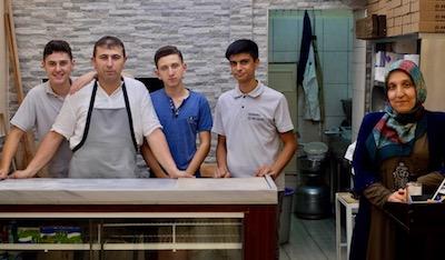 Hacı Ahmet Beşparmark and his staff at Öz Develi, photo by Paul Osterlund