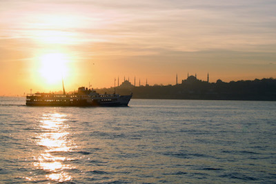 Sunset in Istanbul, photo by Yigal Schleifer
